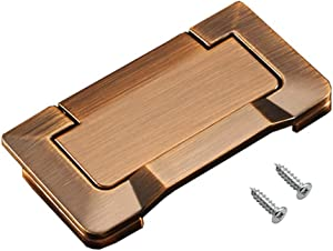Built-in zinc Alloy Drawer Handle Embedded Pull Ring, Hidden Concealed Screws, for cabinets, Closets and Drawers 1 Piece of Brown