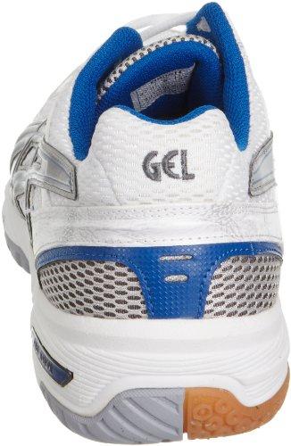 Asics - Zapatillas para deportes de interior de sintético para hombre Plata plata Azul-Blanco-Plateado