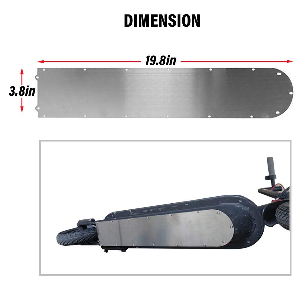 FEC Protective Chassis Scooter Decks for Mijia M365 Electric Scooter Protection Board Chassis - Anti - Collision Non - Slip Accessories with A Thickened 1MM for Xiaomi Mi Electric Scooter