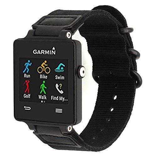ViCRiOR for Garmin Vivoactive Watch Band, Premium Woven Nylon Bands Adjustable Replacement Sport Strap with Metal Buckle for Garmin Vivoactive/Vivoactive Acetate Sports, Black