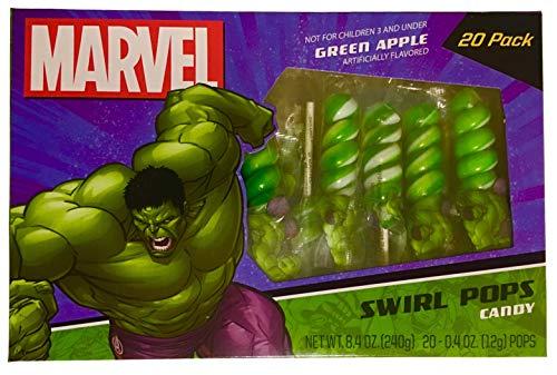 (Hulk Swirl Lollipops Candy (20)