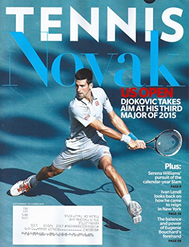 Novak Djokovic L Serena Williams L Ivan Lendl L Eugenie Bouchard L 50Th Anniversary Moments   September October  2015 Tennis Magazine