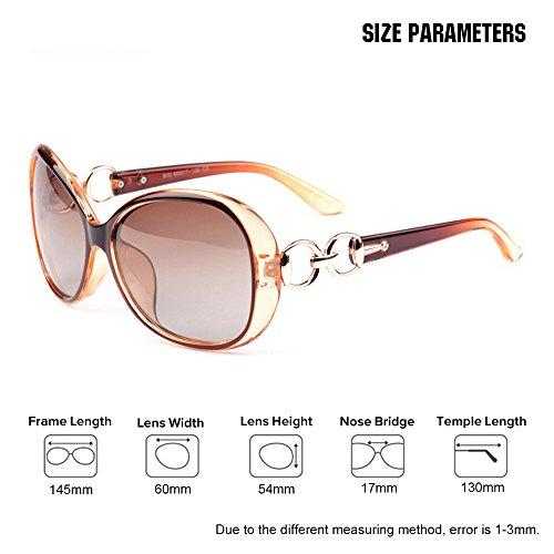 polarizadas UV400 de retro Gafas Marrón sol Mujer de transparente VeBrellen Lujo los anteojos gafas pqXaz7