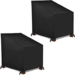 Patio Watcher High Back Patio Chair Cover, Durable and Waterproof Outdoor Furniture Chair Cover,Set of 2