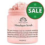 Facial Massage Increase Collagen - ONE DAY SALE! Pure Himalayan Pink Salt Scrub 12 oz By White Naturals:All Natural Body Exfoliator Scrub With Nourishing Vitamins,Exfoliate For Soft &Healthy Skin,Massaging Scrub For Sore Muscles