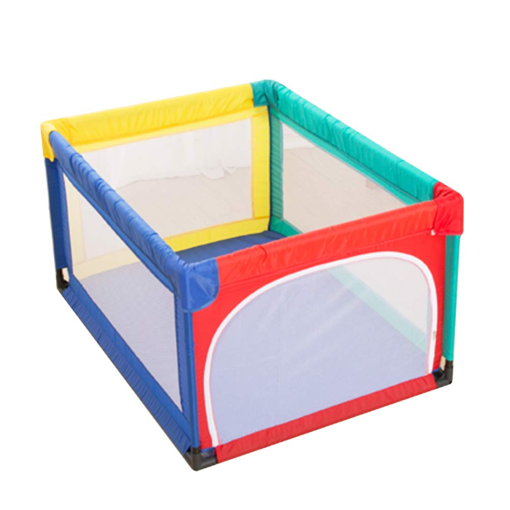 Foldable Baby Playpen Kids Play Yard 4 Panel Activity Center Room, Indoor Outdoor Children Toddler Security Fence Toy House, Height 70cm (Size : 95× 120cm) HWF Shop