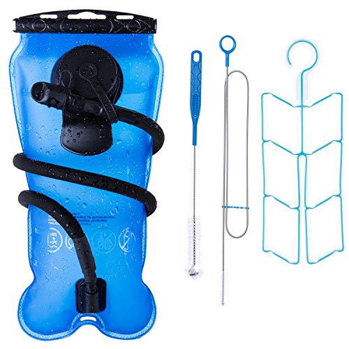 Bonl Emerald Hydration Bladder 3 L  Military Quality Water Reservoir   3 Litres  Blue   Cleaning Kit
