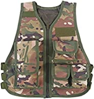 Kid Combat Vest, Hot Children Camouflage Vest with Multi Pouches for Outdoor Combat Hunting Games(S-CP Camoufl