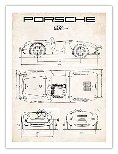 Porsche 550 Spyder 18x24 Poster