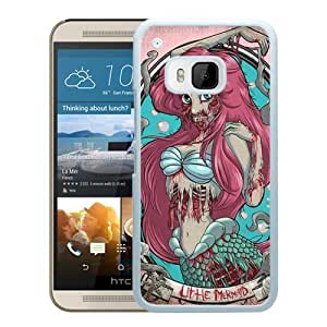 Fashionable and Durable Case Zombie Ariel The Little Mermaid HTC ONE M9 Case in White