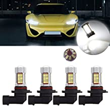 CCIYU 4Pack White Super Bright 9005 81SMD LED Bulb with Projector for DRL Fog Light
