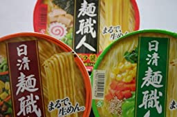Nissin Men Syokunin (3 Taste Variety Pack) (3.4ounce X 6cups) 【Japan Import】