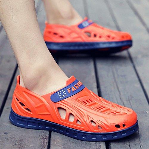 Xing Lin Sandalias De Hombre Sandalias Y Pantuflas Chanclas De Verano Macho MenS Baotou Agujero Zapatos Antideslizantes De Hombres Sandalias Sandalias De Hombres Hombres Orange