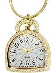 Moog Paris Liberty Womens Watch with White Dial, Gold Stainless Steel Strap & Swarovski Elements - M44834-002