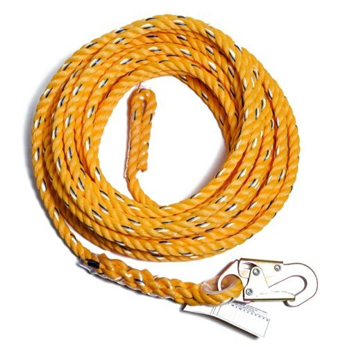 Guardian Fall Protection 01350 VL58-75 Standard 5/8 Inch Thick Rope with Snaphook End, 75-Foot by Guardian Fall Protection