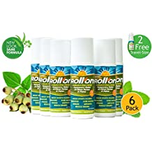 Premiere's Pain Spray Roll-On 6 Pack (Includes 2 Free 1 oz. Travel Size Spray Bottles) Roll On Pain Relief: No-Spill Liquid Gel for Hard-to-Reach Pain, Low Back Pain Medicine, Upper Back Pain Relief, Also Get 2 FREE Spray Mist Travel-Size