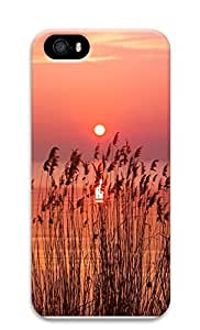 iPhone 5 5S Case landscapes nature sunset wheat 5 3D Custom iPhone 5 5S Case Cover