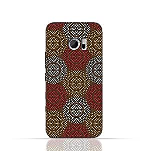 HTC 10 TPU Silicone Case With Polka Dot Ethnic Pattern Design.