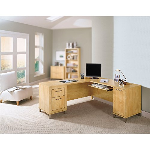 Somerset 71W L Shaped Desk in Maple Cross by Bush Furniture
