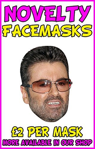 George Michael Novelty Celebrity Face Mask Party Mask Stag Mask by Novelty Print Face Masks by Novelty Print Face Masks