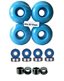 52mm Wheels w/ Bearings & Spacers (Baby Blue)