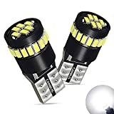 2006 Ford Freestyle License Plate Light Bulbs - AUXITO Super Bright LED Bulbs 168 175 194 2825 W5W T10 24-SMD 3014 Chipsets 6000K White for Car Dome Map Door Courtesy License Plate Lights Pack of 2