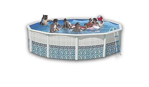 TOI - Piscina MOSAICO CIRCULAR 460x120 cm Filtro 3,6 m³/h.: Amazon.es: Juguetes y juegos