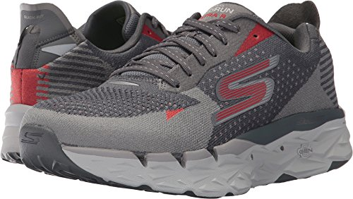 SKECHERS  Men's Go Run Ultra R Charcoal/Red Athletic Shoe