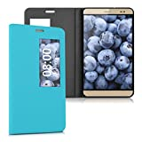 kwmobile Practical and chic FLIP COVER case with window and synthetic leather for Huawei MediaPad X2 7.0 in light blue