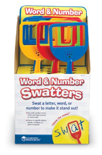Word And Number Swatters Display product image