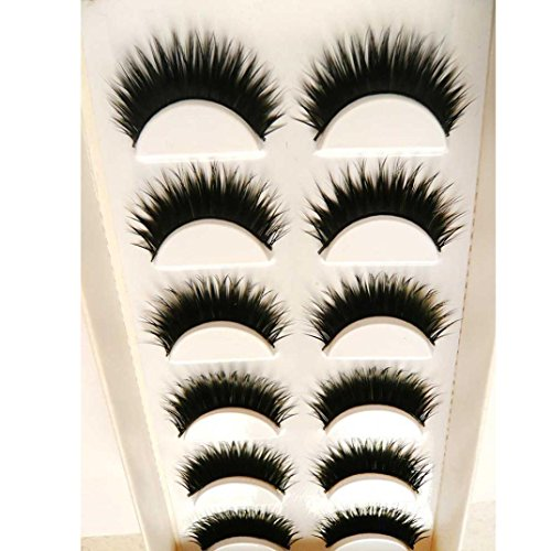 Big sale!False Eyelashes,BeautyVan Fashion 6 Pair Handmade Natural False Eyelashes