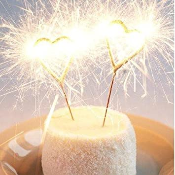 Heart Cake Sparklers Amazoncouk Toys Games