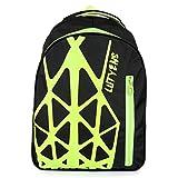 Lutyens Black Neon School Bag / Backpack (22 Liters) (Lutyens_241)