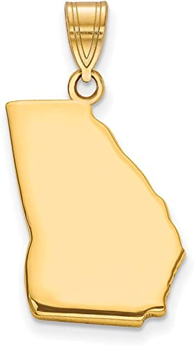 Jewelry Best Seller GP GA State Pendant with chain