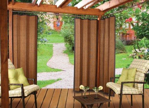 Versailles Home Fashions - Versailles Home Fashions Indoor/Outdoor Bamboo Panel, 72-Inch, Espresso