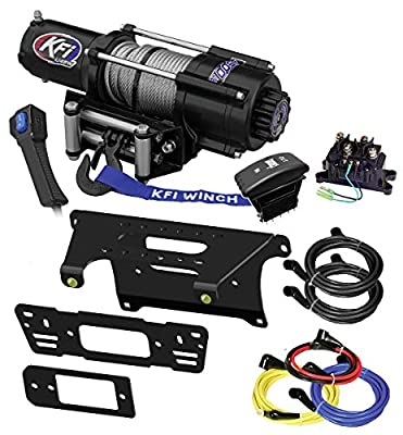 KFI Combo Kit - U45w-R2 4500lbs Winch & Mount Bracket - 2017-2018 Polaris 1000 Ranger 4x4 Crew - Full-Size