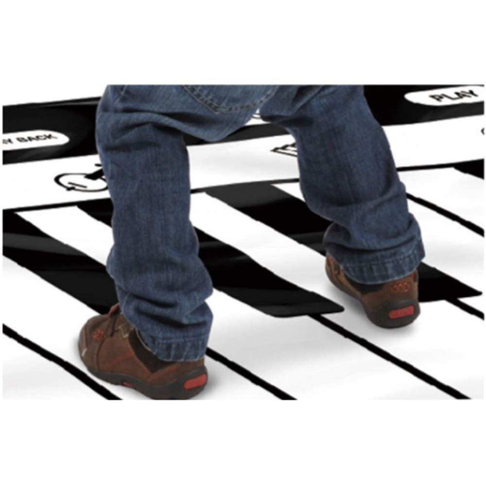 Play Keyboard Mat 71 Inches 24 Keys Giant Jumbo Sized Musical Keyboard Playmat With Record Playback Demo Play Adjustable Vol Foldable Floor Keyboard Piano Dancing Activity Mat Step And Play Instrument by GAOCAN-gq (Image #3)