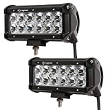 Enegitech 2 Pack 7 Inch 36w Spot LED Work Light Off Road Driving Fog Light Bar Super Bright for ATV SUV 4x4 Jeep Truck