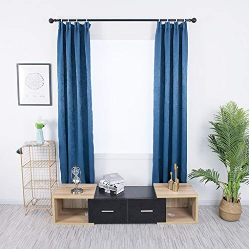 m·kvfa Leaves Curtains Tulle Window Treatment Voile Drape Valance 2 Panel Fabric for Home Garden Kitchen Bedroom Living Room (Blue) from *m·kvfa* Curtains