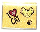RFID Debit Card Holder I Love My Cat with Debit Register and Photo Debit Card Insert