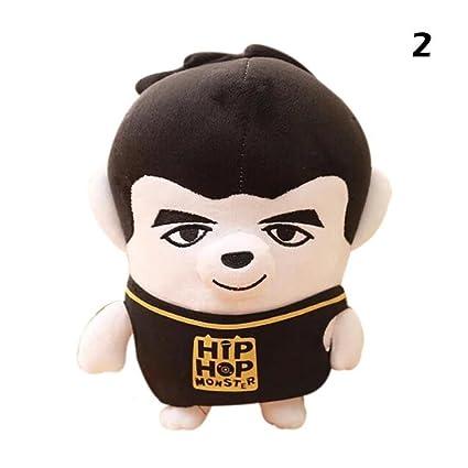 CDELEC 1 UNID Nueva Corea BTS Muñecas Suaves Ugly Doll Peluches Muñecas de peluche Niños Regalos Creativos (Vistoso 1): Amazon.es: Juguetes y juegos