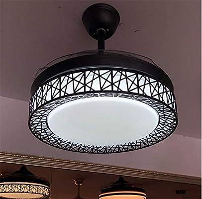 URBBR Ventilador de techo luz invisible lámpara led 42 pulgadas ...