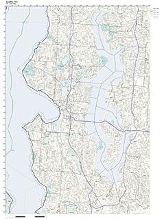 Amazon.com: Broward County, Florida FL ZIP Code Map Not Laminated ...