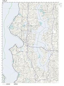 Amazoncom ZIP Code Wall Map Of Seattle WA ZIP Code Map Not - Seattle map zip codes