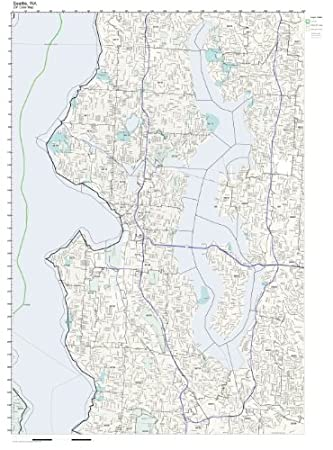Amazon.com: ZIP Code Wall Map of Seattle, WA ZIP Code Map Laminated ...