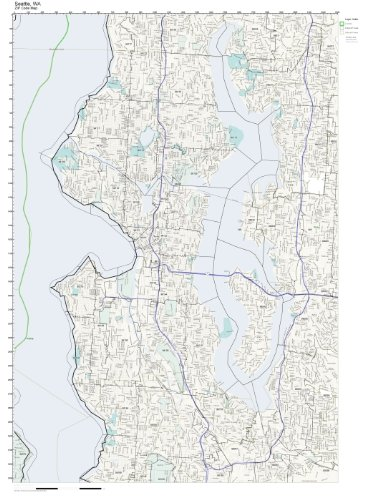 Amazon.com: ZIP Code Wall Map of Seattle, WA ZIP Code Map Not ...