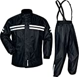 Tour Master Shield Two-Piece Mens Street Bike Motorcycle Rainsuit - Black - 2X-Large