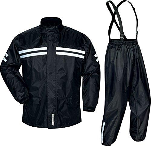 Tourmaster Shield Two-Piece Rainsuit (X-Large) (Black)