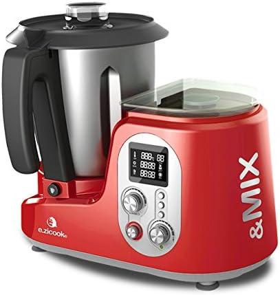 E.Zicom e.zicook & Mix - Robot de cocina multifunción (37 x 32 x 19 cm), color rojo: Amazon.es: Hogar