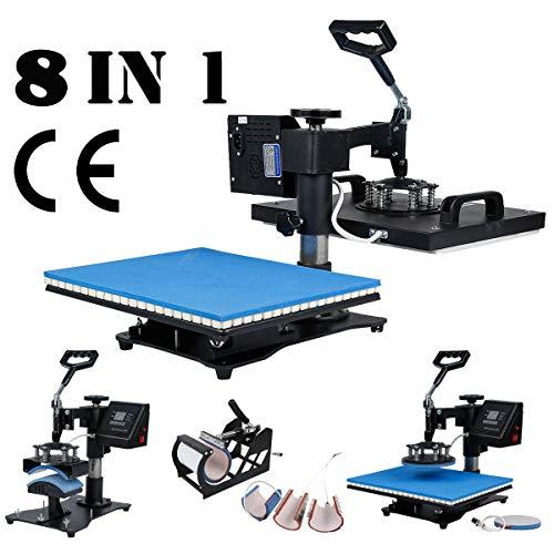 8 in 1 heat press machine 15x15 - 8